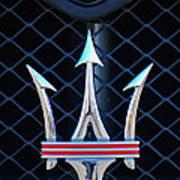 2005 Maserati Gt Coupe Corsa Emblem Art Print