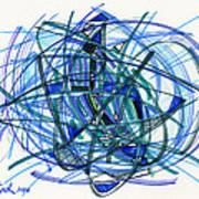 2010 Abstract Drawing 22 Art Print