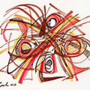 2010 Abstract Drawing 23 Art Print
