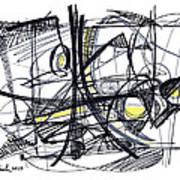 2010 Abstract Drawing 27 Art Print