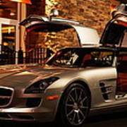 2011 Mercedes-benz Sls Amg Gullwing Art Print