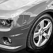 2012 Chevy Camaro Ss Bw Art Print