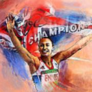 2012 Heptathlon Olympics Gold Medal Jessica Ennis  Art Print