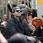 2012 San Francisco Giants World Series Champions Parade - Barry Zito - Img8206 Print by Wingsdomain Art and Photography