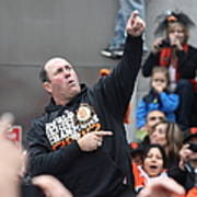 2012 San Francisco Giants World Series Champions Parade - Will The Thrill Clark - Dpp0006 Art Print