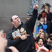2012 San Francisco Giants World Series Champions Parade - Will The Thrill Clark - Dpp0006 Art Print