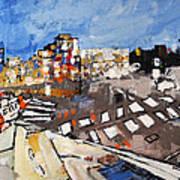 2013 015 Crosswalk Silver Orange And Blue Arlington Virginia Art Print