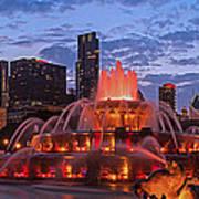 2013 Chicago Blackhawks Skyline Art Print