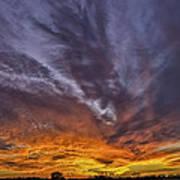 201311110-008m Fiery Sunset 8 2x1 Art Print