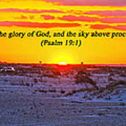 2014 03 12 02 A Psalm 19 1 Art Print