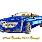 2014 Cadillac Ciel Concept Art Print