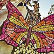 2015 Rose Parade Float With Butterflies 15rp043 Art Print