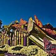 2015 Rose Parade Float With Butterflies 15rp044 Art Print