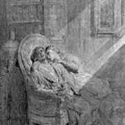 Dor� The Raven, 1882 Art Print