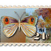 24 Cent Butterfly Stamp Art Print