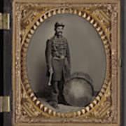 Civil War Soldier, C1863 Art Print
