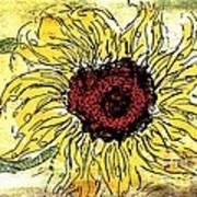 24 Kt Sunflower - Barbara Chichester Art Print