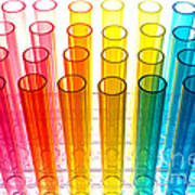 Laboratory Test Tubes In Science Research Lab Art Print