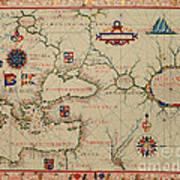 Old World Map Art Print