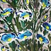 Zenmoksha Flowers Art Print