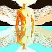 24x36 Reflective Angel Bb Art Print