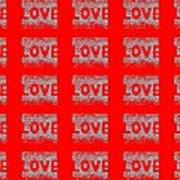 25 Affirmations Of Love In Red Art Print