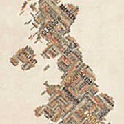 Great Britain Uk City Text Map Art Print