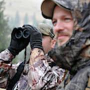 Hunting In Oregon Art Print