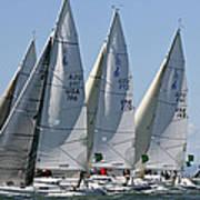 Sf Bay Sailing Art Print