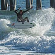 Gulf Coast Surfing Art Print