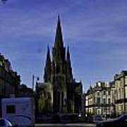 View Of Episcopal Cathedral In Edinburgh Art Print