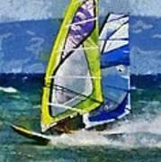 Windsurfing Art Print