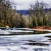 Winter Along Williams River Art Print