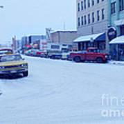 2nd Street Fairbanks Alaska 1969 Art Print