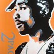 2pac In Orange Art Print