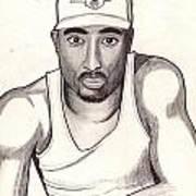 2pac Shakur Art Print
