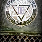 1923 Dodge Brothers Depot Hack Emblem Art Print