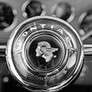 1933 Pontiac Steering Wheel Emblem Art Print