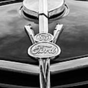 1937 Ford Pickup Truck V8 Emblem Art Print