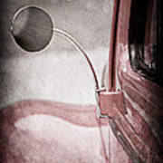 1940 Ford Deluxe Coupe Rear View Mirror Art Print