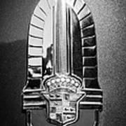 1941 Cadillac Emblem Art Print by Jill Reger
