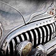 1947 Buick Eight Super Grille Emblem Art Print