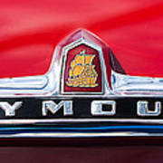 1949 Plymouth P-18 Special Deluxe Convertible Emblem Art Print by Jill Reger