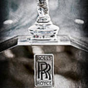 1952 Rolls-royce Hood Ornament Art Print