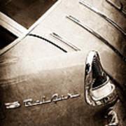 1955 Chevrolet Nomad Wagon Taillight Emblem Art Print