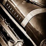 1955 Pontiac Star Chief Grille Emblem - Hood Ornament Art Print