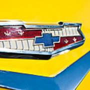 1956 Chevrolet Belair Emblem Art Print