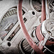 1956 Ford Thunderbird Steering Wheel Art Print