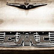 1956 Gmc 100 Deluxe Edition Pickup Truck Hood Ornament - Grille Emblem Art Print
