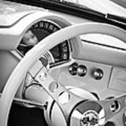 1957 Chevrolet Corvette Steering Wheel Emblem Art Print